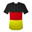 T-Shirt Deutschland in schwarz, rot, gold