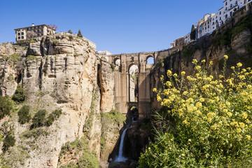 Spanien, Ronda, Ansicht von Puente Nuevo Brücke in Ronda