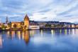 Deutschland, Baden -Württemberg, Constanze, Altstadt, Rhein, Rheintor - Turm und Münster im Hintergrund