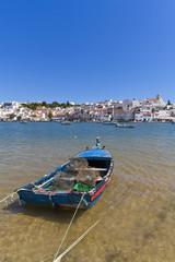 Portugal, in der Nähe von Portimao Fischerboot
