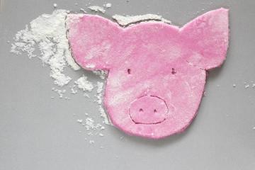 Cookie- wie Gesicht eines Schweins