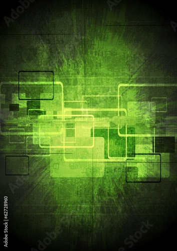 Abstract tech green design