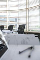 Architekturplan für Konferenztisch