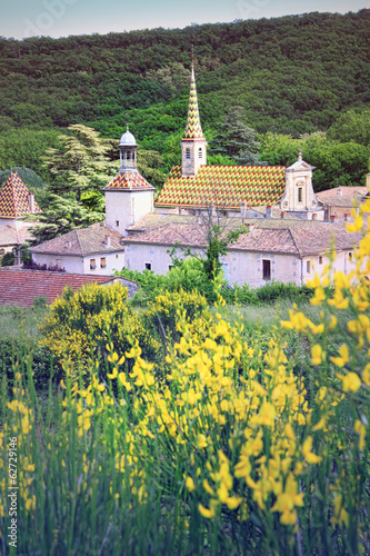 Monastery of Valbonne  in Gard Provencal, France