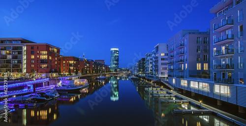 Deutschland, Frankfurt, Wohngebäude am Westhafen