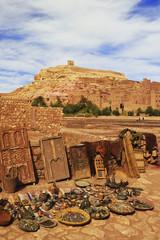 Afrika, Marokko, Kasbah, Ansicht von Ait Benhaddou