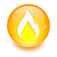button fire icon orange