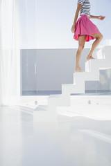 Spanien, Frau steigen Treppe