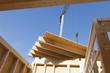 Deutschland, Rheinland Pfalz die, Mann der Installation und Befestigung von Holzwände der Fertighaus