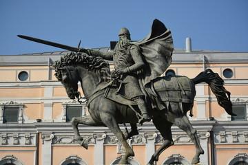 Detalle de la estatua del Cid Campeador, Burgos, España
