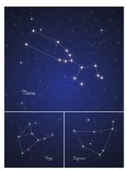 Constellations Taurus , Capricorn and Virgo