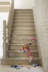 Socken auf Treppe gefallen