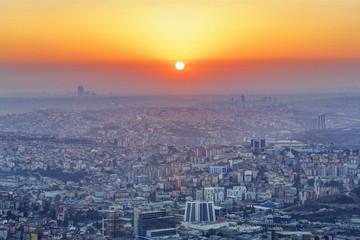 Türkei, Istanbul, Ansicht des Finanzviertels in Levent