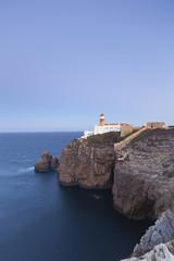 Portugal, Ansicht von Farol do Cabo Sao Vicente, Leuchtturm im Hintergrund