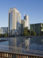 Deutschland, NRW, Essen, Blick auf die Skyline