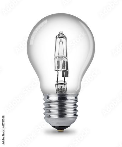 Leinwanddruck Bild halogen light bulb