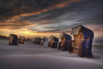 Deutschland, Strandkörbe an der Ostsee