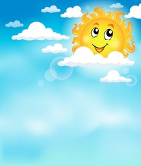Sun on sky theme image 2