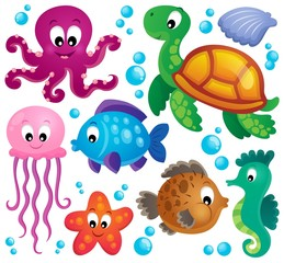 Various marine animals set 1