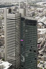 Deutschland, Hessen, Frankfurt am Main, Blick auf Silberturm und Skyper Deutschland