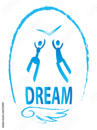 Vector icon, people simbol,dream