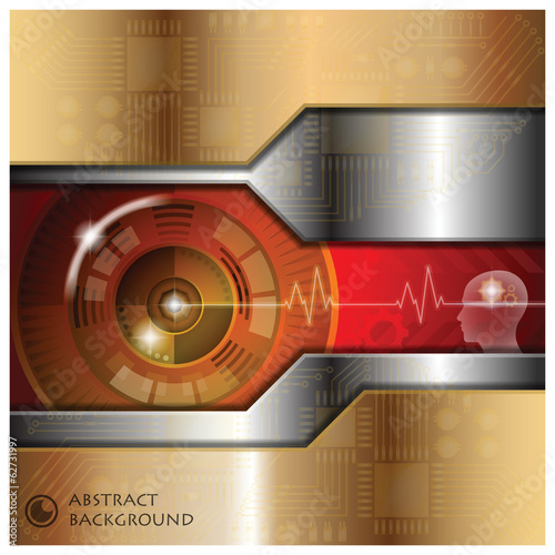 Technology Eyeball Thinking Abstract Background