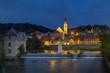 Deutschland, Bayern, Blick auf St. Jakob -Kirche in der Nacht
