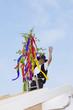 Deutschland, Rheinland-Pfalz, Mann feiert Richtfest