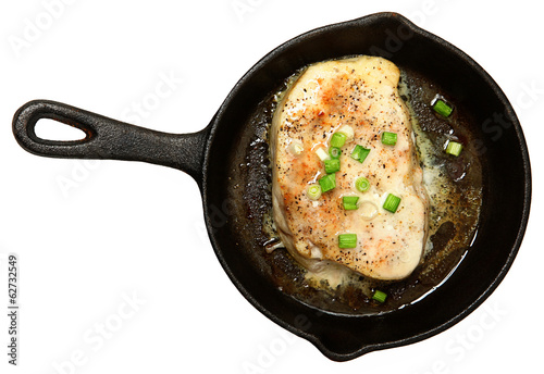Oven Baked Swordfish in Butter with Green Onions and Ginger