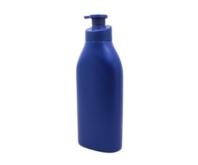 Dispenser Pump Cosmetic Or Hygiene Blue, Plastic Bottle Of Gel,