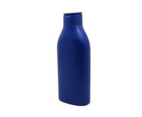 Dispenser Pump Cosmetic Or Hygiene Blue, Plastic Bottle Of Gel,