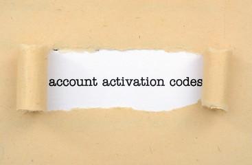 Account activation code