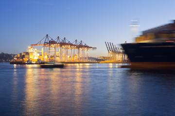 Deutschland, Hamburg, Parkhafen, Hafen, Elbe, Containerschiff