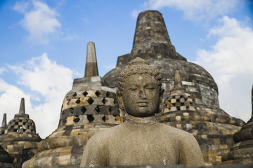Indonesien, Yogyakarta, Ansicht von Borobudur -Tempel