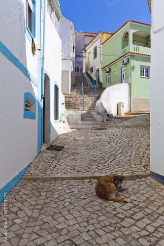 Portugal, Blick auf Häuser