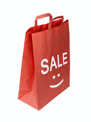 Shopping red bag for sale