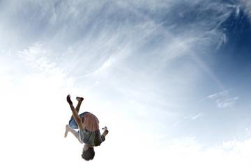 Frankreich, Teenager springen