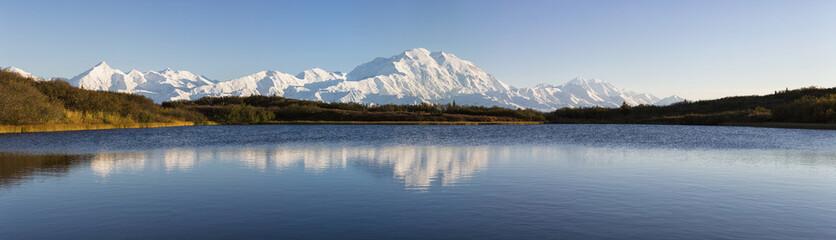 USA, Alaska, Blick auf den Mount McKinley und Alaska Range im Denali-Nationalpark