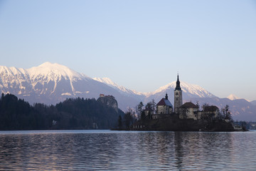 Santa Maria Church in Lake Bled