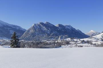 Deutschland, Bayern, Blick auf Pfronten Dorf