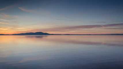 Silloth Sunset looking over the Solway Firth