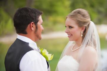 USA, Texas, Braut und Bräutigam