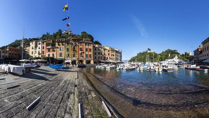 Italien, Ligurien, Portofino, Hafenblick