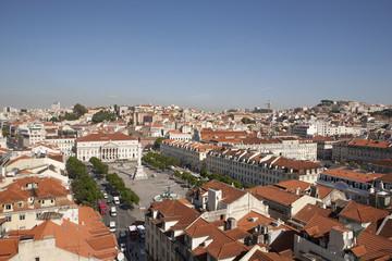 Portugal, Lissabon, Blick auf den Rossio-Platz