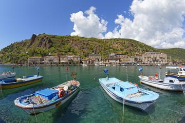 Türkei, Hafen von Assos Behramkale Dorf