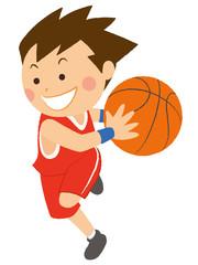 バスケットボール ドリブル 男性