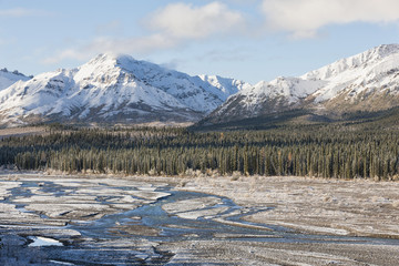 USA, Alaska, Blick Teklanika Fluss in Denali National Park