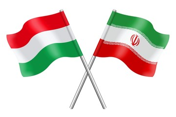 Flags : Hungary and Iran