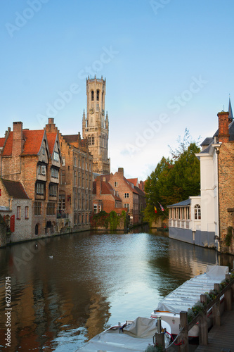 view of old Bruges, Belgium
