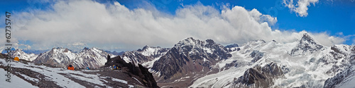 Panoramic View from altitude of 5000 meters at the Andes
